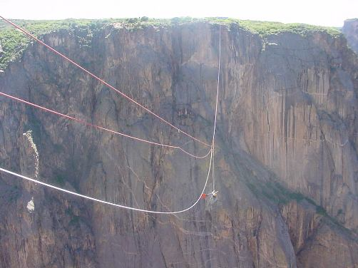 Rope rescue in the Black Canyon