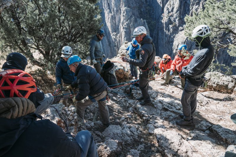 Black Canyon Ranger Coordinating Rescue Effort